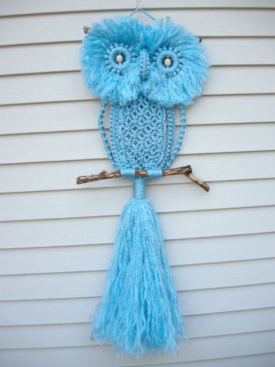 macrame owls macrame owl necklace the whoot 9408