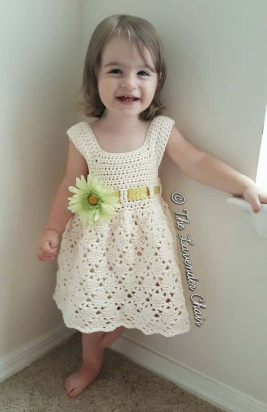 Crochet Vintage Toddler Dress Free Pattern